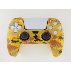 DualSense rubber shell Camo Yellow