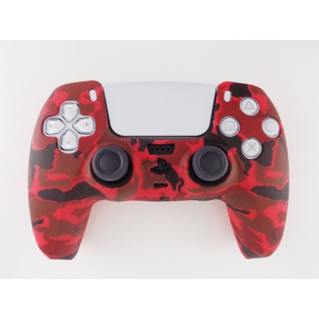 DualSense rubber shell Camo Red