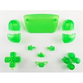 DualSense button set Transparent Green