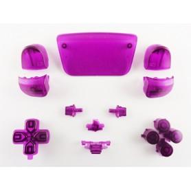 DualSense button set Transparent Purple