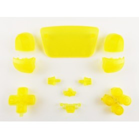 DualSense button set Transparent Yellow