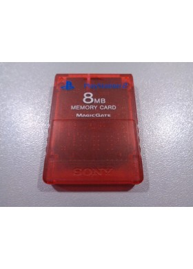 Sony PS2 memory kaart 8MB Red