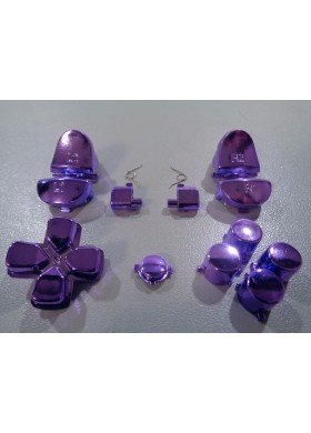 DS4 button set chrome Purple