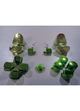 DS4 button set chrome Green