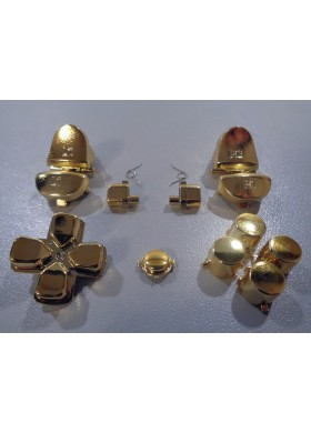 DS4 button set chrome Gold