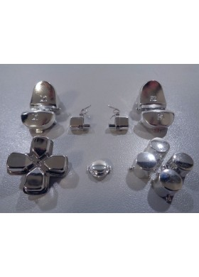 DS4 button set chrome Silver
