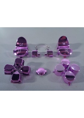 DS4 button set chrome Pink
