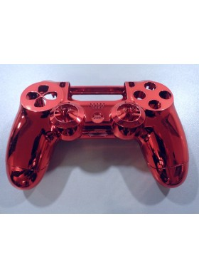Dualshock 4 shell chrome Red