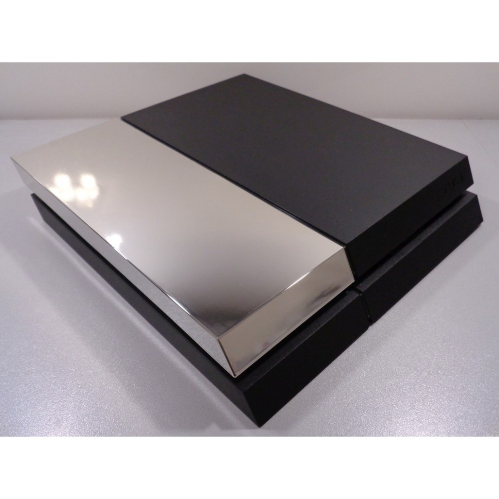 PS4 Phat HDD cover chrome Silver - XQ Gaming