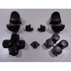 DS4 button set matt Black Gen 3 V1