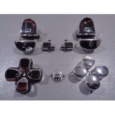 DS4 button set chrome Silver Gen 3 V1