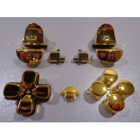 DS4 button set chroom Goud Gen 3 V1