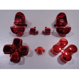 DS4 button set chroom Rood Gen 3 V1