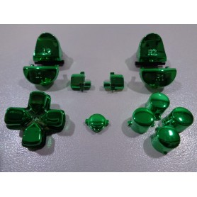 DS4 button set chrome Green Gen 3 V1
