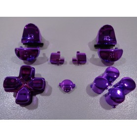 DS4 button set chrome Midnight Purple Gen 3 V1