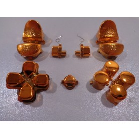 DS4 button set chrome Copper Gen 1,2 V1