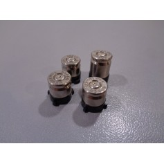 XB1 9mm Bullet buttons Silver