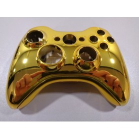 Xbox 360 behuizing chroom Goud Draai Dpad