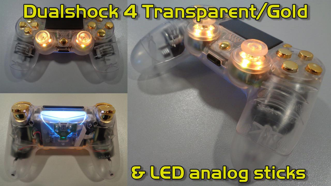 Dualshock 4 Transparent Gold Led Analog Sticks Xq Gaming Ds4 New Dual Shock Light Model There Are No Products In This Category